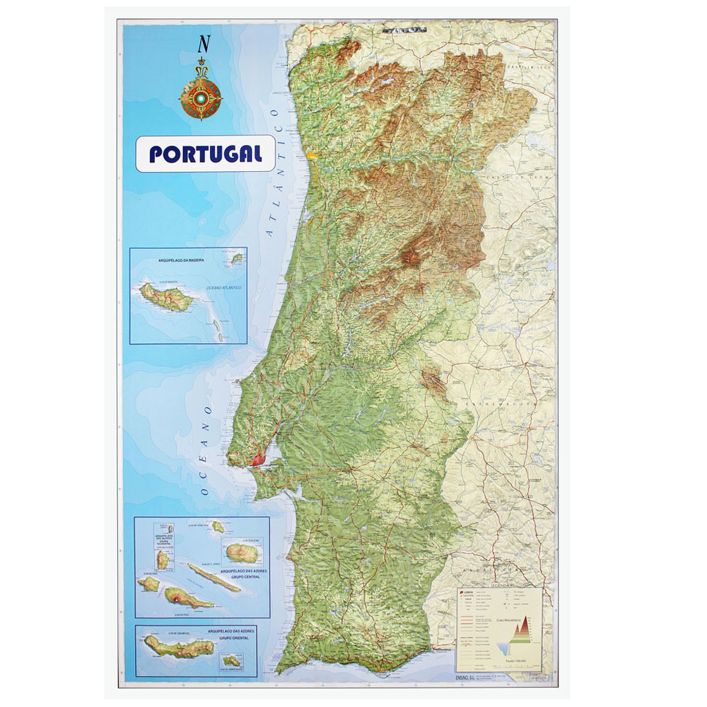 Portugal Relief Map Girosworld